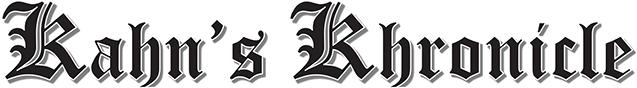 Kahn's Khronicle